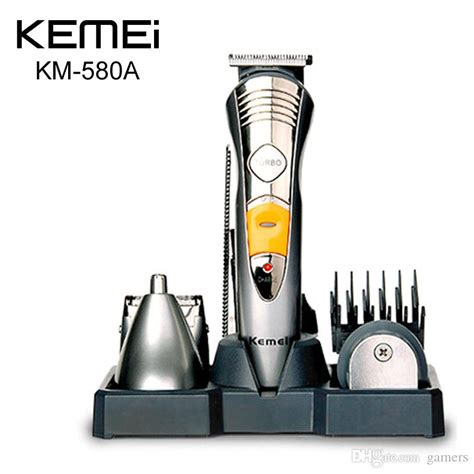 kemei km 580a 7 in 1 professional multinational hair clipper razor shaver household rechargeable