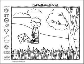 Find the hidden pictures worksheets davezan