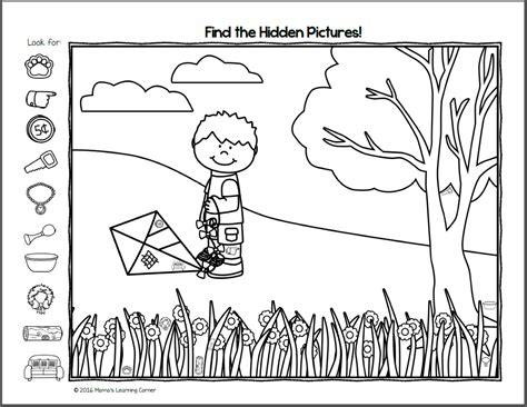 Find it! Spring Hidden Picture Worksheets   Mamas Learning