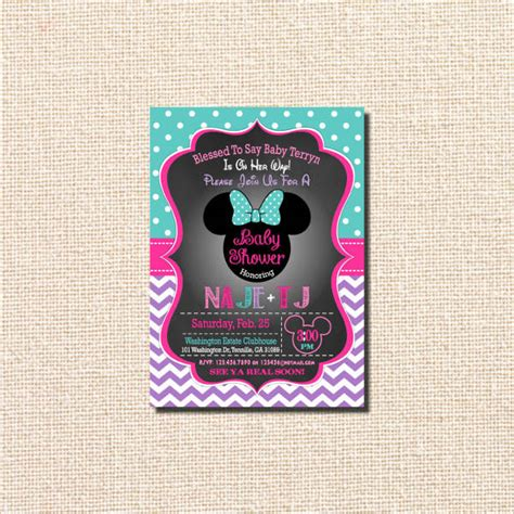 10 minnie mouse baby shower invitations psd ai