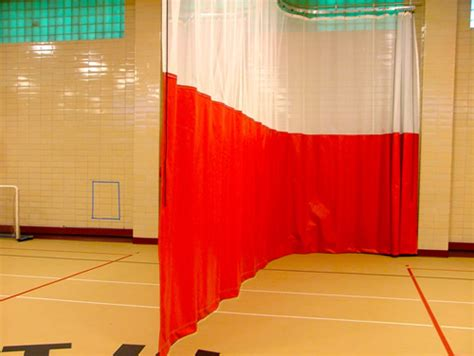 gym divider curtains cost back up nets barrier netting cages for soccer golf