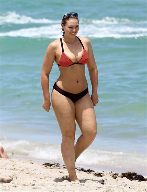 iskra lawrence in a on the beach in miami july 2016