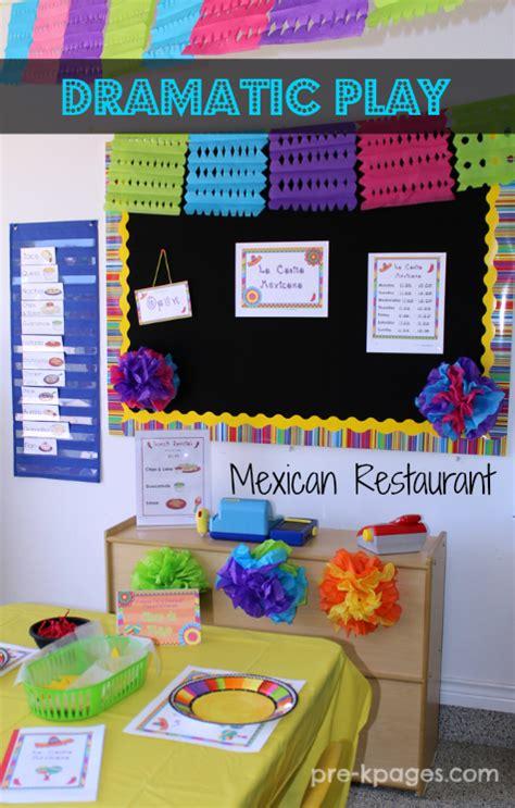 kindergarten activities mexico dramatic play mexican restaurant printables