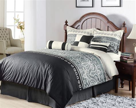 black and gray comforter sets black and grey bedding sets black and grey comforter