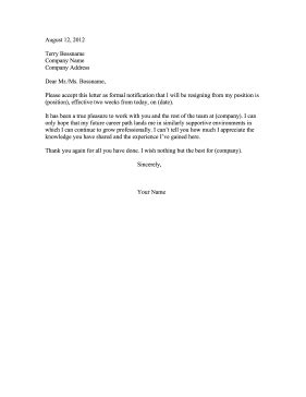 Resignation Letter Format Doc resignation letter examples doc Resignation Letter Format Sample Doc 2