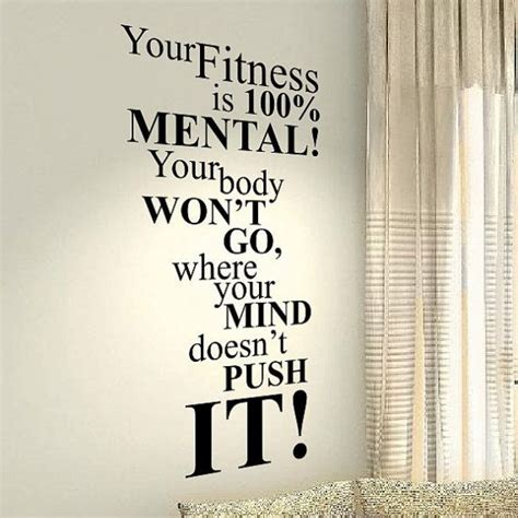Happiness Home Bedroom Decor Vinyl Your Fitness Fit Motivational Family Home