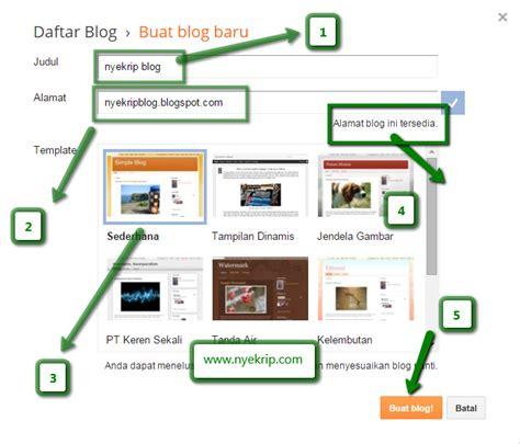 cara membuat blog perniagaan online sekolah online