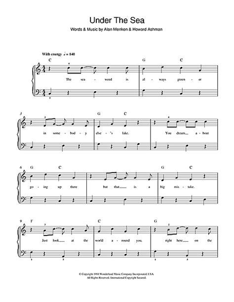 piano tutorial under the sea under the sea sheet music by alan menken beginner piano
