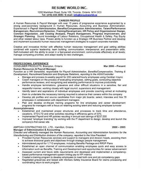 payroll resume sles 29 executive resumes in word