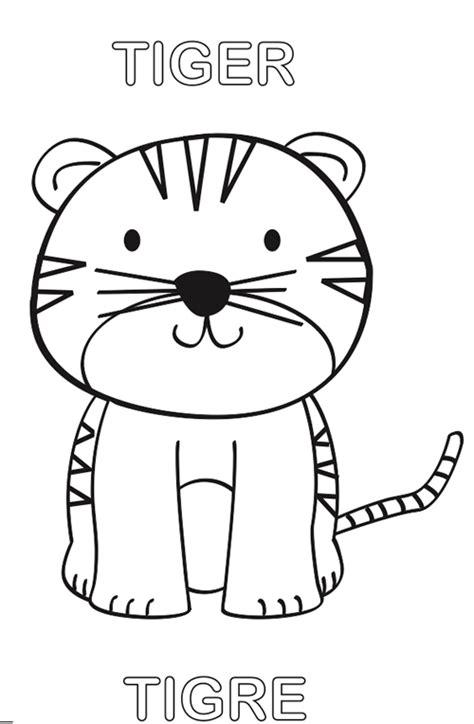 imagenes para pintar tigre tigre para colorear manualidades