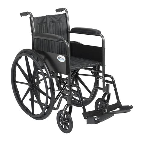swing away drive silver sport 2 wheelchair with fixed arms swing