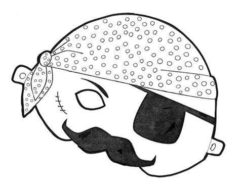 printable pirate mask free printable halloween masks color and print your own