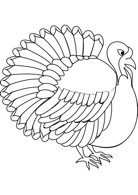 turkey coloring pages printable free printable turkey coloring pages for