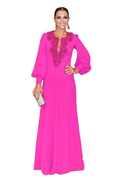 Nm Ir Nagita Kaftan Pink pink dubai fashion kaftan evening dresses 2016 sleeves beaded plus size chiffon