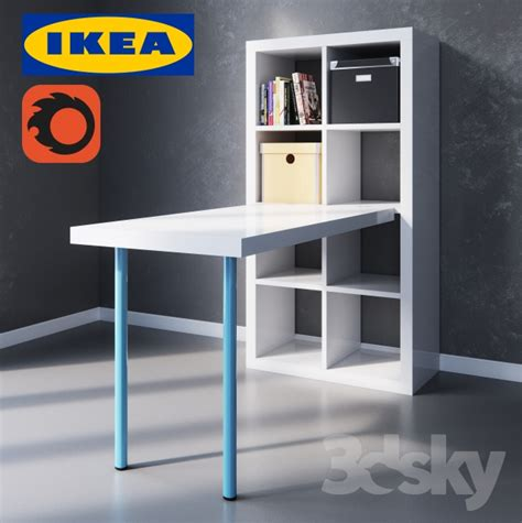 old ikea desk models 3d models table kallax