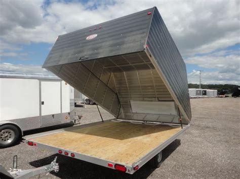 A Place Trailer 2 2015 Enclosed 2 Place Clam Shell Snowmobile Trailer For Sale Snowmobile Trailers For Sale Open