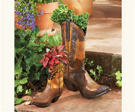 Cowboy Boot Planter by Cowboy Boot Planters From Napastyle Lake Villa Ideas