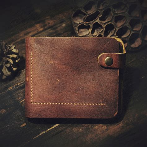 Leather Wallets For Handmade - 100 genuine leather wallet unisex for or