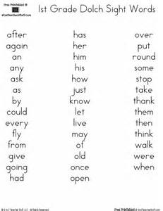 Dolch word lists a to z teacher stuff printable pages and worksheets