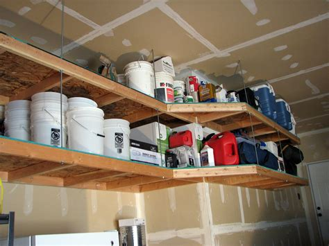How To Make Hanging Garage Shelves by Diy Garage Storage