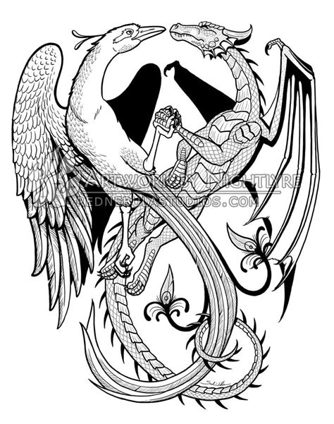 dragon and phoenix tattoo celtic designs celtic cross flower