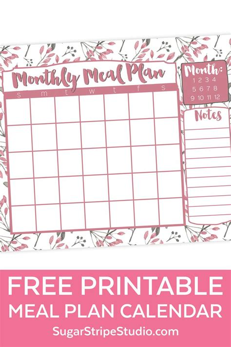 monthly meal planner ideas pinterest weekly