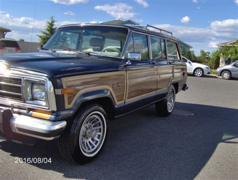 jeep wagoneer blue 1989 jeep grand wagoneer low no reserve baltic blue