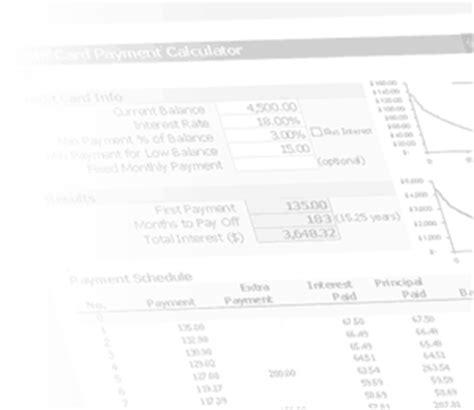 Credit Card Minimum Payment Formula Excel Credit Card Minimum Payment Calculator For Excel