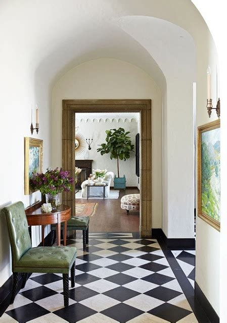 Return  Home  Black  White Checkered Floor