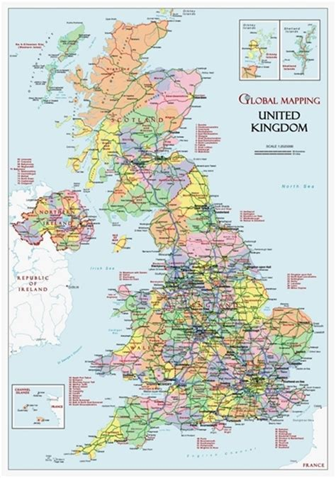 printable street maps uk british isles political a3 british isles wall maps