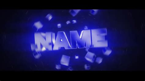 intro templates best free blue 3d blender intro template