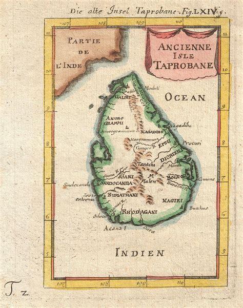 Karet Mallet King Sri Lanka Alte Karte