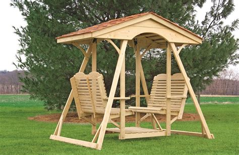 double glider swing double lawn glider cedar shingle top traditional gliders