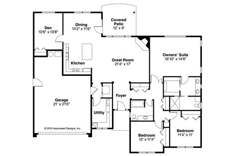 prairie style home floor plans prairie style house plans lexington 30 989 associated