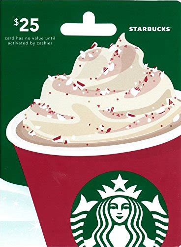 Starbucks Gift Card Denominations - 40 best gift cards for christmas 2017 unusual gifts