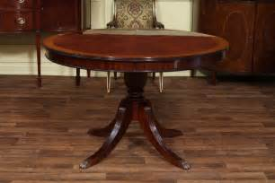 Mahogany Dining Table Mahogany Dining Table With Leaf Four Leg Reeded Pedestal Dining Room Ebay