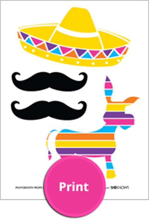 cinco de mayo printable photo booth props throw a pi 241 ata cookie themed party page 5