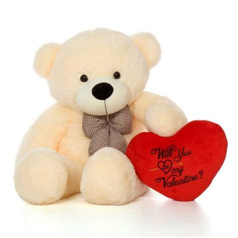 will you be my teddy buy 4 big bow teddy holding will you be my