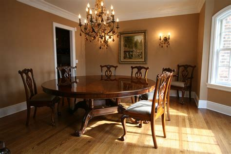 Round Formal Dining Room Table | 72 round brown mahogany formal dining room table ap 72