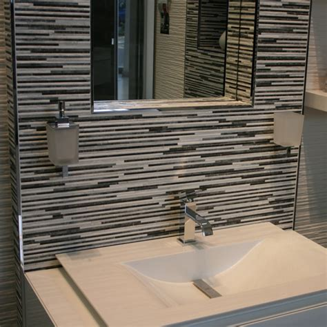 Glass Tile Backsplash Ideas Bathroom by Porcelanosa Jersey Mix Rectified Edge Glazed Ceramic Wall