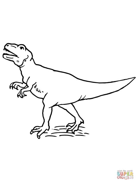 allosaurus theropod dinosaur coloring page free