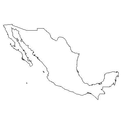 coloring page map of mexico blank outline map of mexico schools at look4