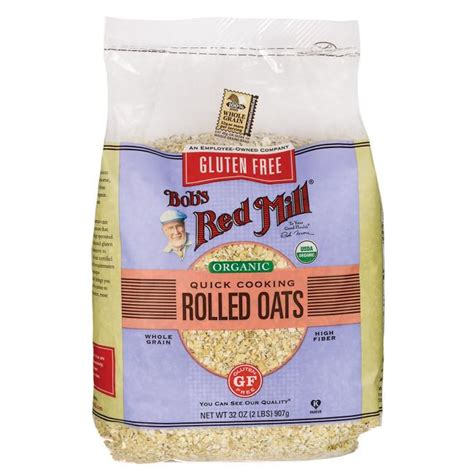 Bob S Mill Organic Cooking Rolled Oat Whole Grain bob s mill gluten free organic cooking rolled