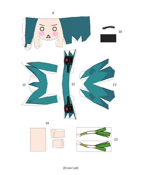 Papercraft Miku - hachune miku papercraft pg2 by kim1442 on deviantart