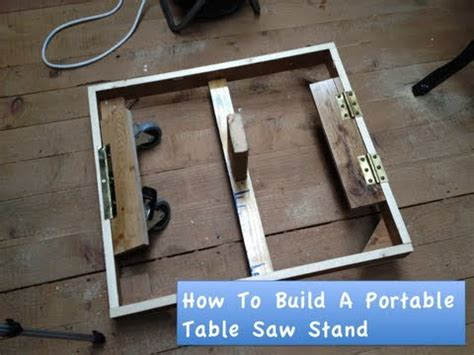 diy table saw stand with wheels how to build a portable table saw stand