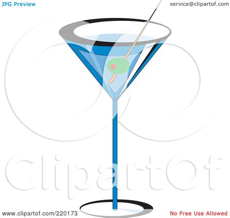 blue martini clip art royalty free rf clipart illustration of an olive garnish