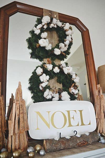 cotton diy christmas diy rustic cotton wreath