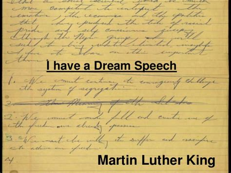 Martin Luther King Jr I A Essay by Martin Luther King Jr Speech Visual Aid