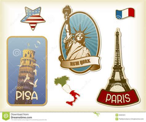 Koffer Met Sticker by Koffer Stickers Stock Afbeelding Beeld 8463461