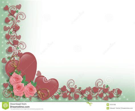 Wedding Border Hearts by Or Wedding Hearts Border Royalty Free Stock